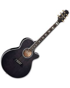 Takamine TSP158C SBL Acoustic Electric Guitar See Thru Black Gloss TAKTSP158CSBL