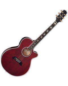 Takamine TSP158C STR Acoustic Electric Guitar See Thru Red Gloss TAKTSP158CSTR
