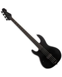 ESP LTD AP-4 Black Metal Left Handed Electric Bass Black Satin sku number LAP4BKMBLKSLH