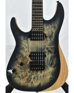 Schecter Reaper-6 Left Handed Electric Guitar Satin Charcoal Burst B-Stock SCHECTER1512.B