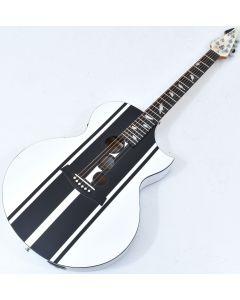 Schecter DJ Ashba Signature Acoustic Electric Guitar Satin White B-Stock 3634 sku number SCHECTER3718.B 3634