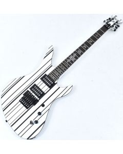 Schecter Synyster Standard Electric Guitar Gloss White Black Pinstripes B-Stock 0057 sku number SCHECTER1746.B 0057