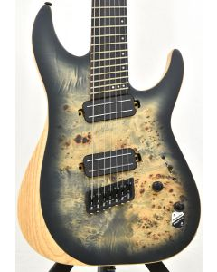 Schecter Reaper-7 Multiscale Electric Guitar in Satin Charcoal Burst B-Stock 1832 SCHECTER1509.B 1832