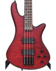 Schecter Stiletto Custom-4 Electric Bass Vampyre Red Satin B-Stock 2163 sku number SCHECTER2537.B 2163