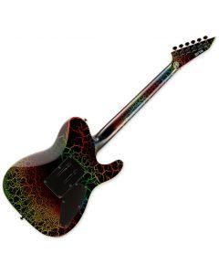 ESP LTD Eclipse 87 Left-Handed Electric Guitar in Rainbow Crackle sku number LECLIPSE87RBCRKLH