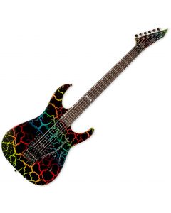ESP LTD Mirage Deluxe 87 Electric Guitar in Rainbow Crackle Finish sku number LMIRAGEDX87RBCRK