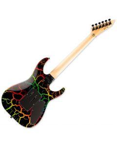 ESP LTD Mirage Deluxe 87 Left-Handed Electric Guitar in Rainbow Crackle sku number LMIRAGEDX87RBCRKLH