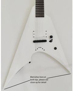 ESP LTD Arrow NT Arctic Metal Guitar Snow White Satin B-Stock 0446 sku number LARROWNTARMSWS.B 0446