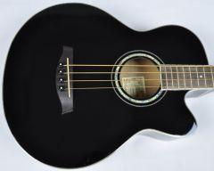 Ibanez AEB10E-BK Artwood Series Acoustic Electric Bass in Black High Gloss Finish AEB10EBK.B