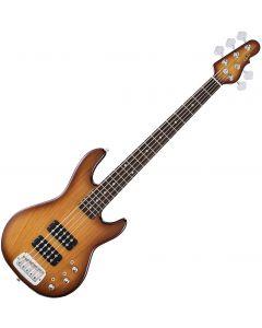 G&L Tribute L-2500 Bass Guitar in Tobacco Sunburst Finish sku number TI-L25-TSB
