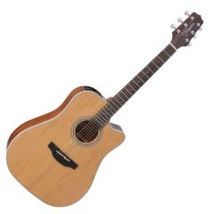 Takamine GD20CE-NS G-Series G20 Cutaway Acoustic Electric Guitar in Natural Finish TAKGD20CENS