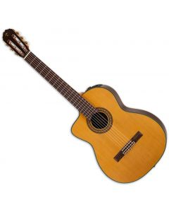 Takamine TC132SC Left Handed Classical Acoustic Electric Guitar in Natural Gloss Finish TAKTC132SCLH