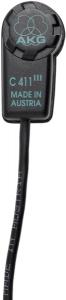 AKG C411 PP High-Performance Miniature Condenser Vibration Pickup 2571H00040
