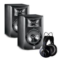 JBL LSR305 - AKG K240 MKII Professional Studio Bundle LSR305-K240MKII