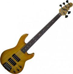 G&L usa custom L-2500 5 string empress body electric bass in honeyburst 111466