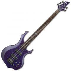 ESP LTD F-155DX Electric Bass in Dark See-Thru Purple LF155DXDSTP