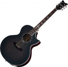 Schecter Signature Synyster Gates SYN GA SC Acoustic Electric Guitar in Trans Black Burst Satin Finish SCHECTER3701