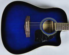 Ibanez PF15ECEWC-TBS PF Series Acoustic Guitar in Transparent Blue Sunburst High Gloss Finish SA150300756 PF15ECEWCTBS.B 0756