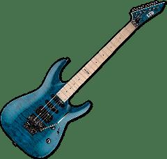 ESP LTD MH-103QM Guitar in See-Through Blue LMH103QMSTB