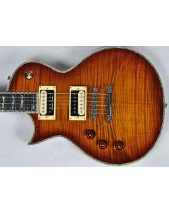 ESP LTD Deluxe EC-1000FM Lefty Electric Guitar in Amber Sunburst B-Stock LEC1000ASBLH.B