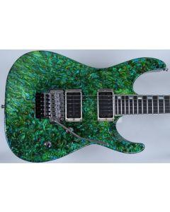 ESP M-II 2016 Exhibition Japan Custom Shop Guitar in Liquid JEM Green Finish EX1617MII