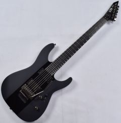 ESP LTD Deluxe M-1000 Electric Guitar in Satin Black with Gloss Stripe LXM1000BLKSGS