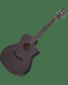Schecter Orleans Studio Acoustic Guitar in Satin See Thru Black Finish sku number SCHECTER3713