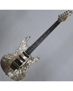 ESP Exhibition Limited Snapper-CTM FR Sand-Blast Maziora Gold Leaf Electric Guitar sku number EEX1742