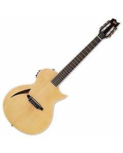 ESP LTD TL-6N Nylon String Acoustic Electric Guitar in Natural Finish sku number LTL6NNAT