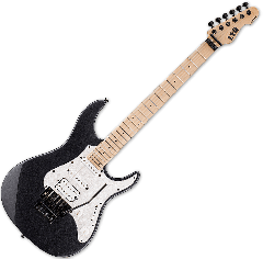 ESP LTD SN-200FR Electric Guitar in Charcoal Metallic LSN200FRMCHM