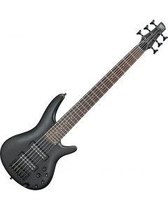 Ibanez SR Standard SR306EB 6 String Electric Bass Weathered Black sku number SR306EBWK