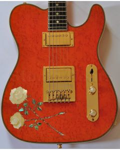 ESP USA Custom Rose Tele Electric Guitar 3097ROSETELE