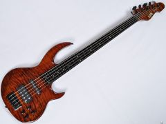 ESP LTD BB-1005FL QM Fretless Bunny Brunel Electric Bass in Burnt LBB1005FLQMBOR.B