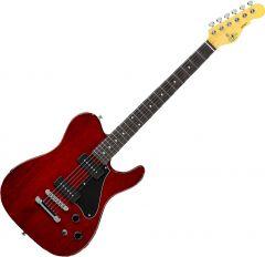 G&L Tribute ASAT Junior II Electric Guitar Trans Red TI-AJ2-132R42R23