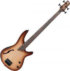 Ibanez SR Bass Workshop SRH500F Semi-Hollow Electric Bass Natural Browned Burst Flat SRH500FNNF