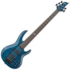 ESP LTD B-155DX Bass in See-Through Blue B-Stock LB155DXSTB.B