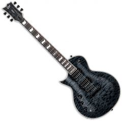 ESP LTD EC-1000 Piezo Quilted Maple Left-Handed Electric Guitar See Thru Black LEC1000PIEZOQMSTBLKLH
