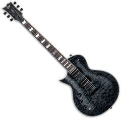 ESP LTD EC-1000 Piezo Left-Handed Electric Guitar See Thru Black LEC1000PIEZOSTBLKLH