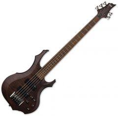 ESP LTD F-205FM Electric Bass Walnut Brown Satin LF205FMWBS