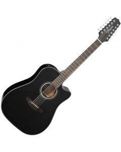 Takamine GD30CE-12BLK Dreadnought Acoustic Electric Guitar Gloss Black sku number TAKGD30CE12BLK