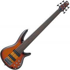 Ibanez SRF706 Fretless Electric Bass Brown Burst Flat SRF706BBF