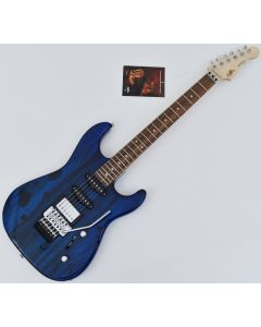 G&L USA Invader Spalted Alder Top Electric Guitar in Clear Blue. Brand New! sku number USA INVADER CLF1803171