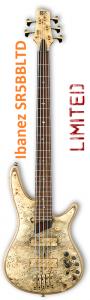 Ibanez SR5BBLTD Limited Premium Buckeye Burl Rare Bass Guitar 6SSR5BBLTD