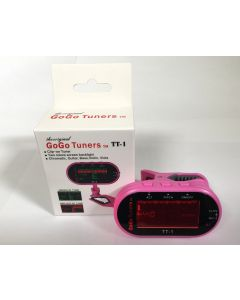 GoGo Tuners Pink TT-1 Chromatic Guitar, Bass, Violin, Viola Tuner sku number 6STT-1Pink