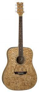 Dean AXS Dreadnought Acoustic Quilt Ash Gloss Natural AX DQA GN AX DQA GN