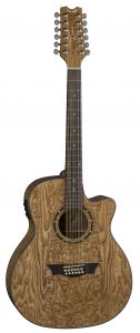 Dean Exotica Quilt Ash Acoustic Electric Guitar 12 String GN EQA12 GN EQA12 GN