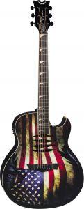 Dean Mako Dave Mustaine Acoustic Electric Guitar USA Flag MAKO GLORY MAKO GLORY
