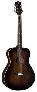 Luna Art Vintage Folk Solid Top Acoustic Guitar Distressed ART V FOLK ART V FOLK