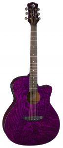 Luna Gypsy Quilt Ash Acoustic Electric Trans Purple GYP E QA TPP GYP E QA TPP