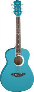 Luna Aurora Borealis 3/4 Acoustic Guitar Teal AR BOR TEAL AR BOR TEAL